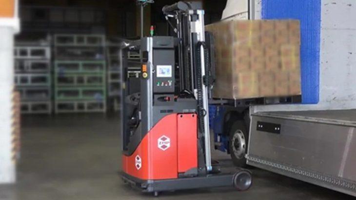【動画】ZMP、無人フォーク使ったトラックへの自動荷役ソリューションを公開