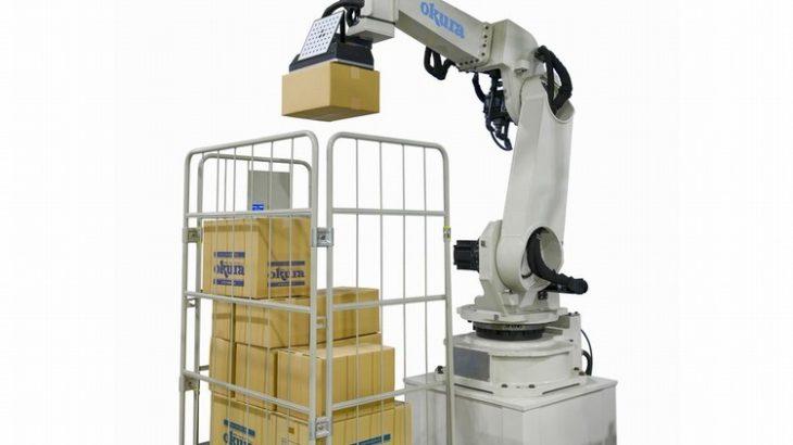 オークラ輸送機、6軸ロボットの混載パレタイズシステムを開発