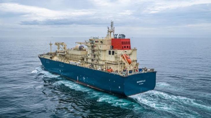 商船三井、フランスを拠点とするLNG燃料供給船の海上公試を実施