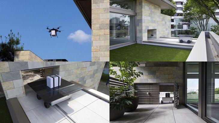 A.L.I. Technologies、ミサワのコンセプト住宅にドローン個配システムの実装完了