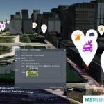 JX通信社、SNSなどで収集した災害・事故のリスクデータを3D都市モデル上で可視化する実証実験