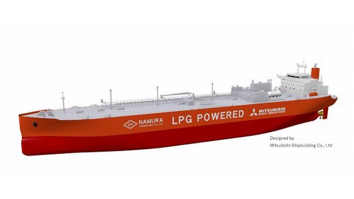 三菱造船と名村造船所、LPG&重油の二元燃料に対応の大型運搬船で技術提携契約