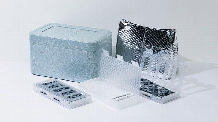 プチプチとアイスエナジーの性能を生かしたワクチン用保冷ボックスを共同開発