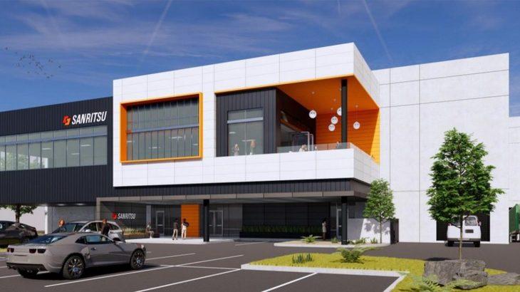 サンリツ、米カリフォルニアに2500平方メートルの新倉庫建設へ
